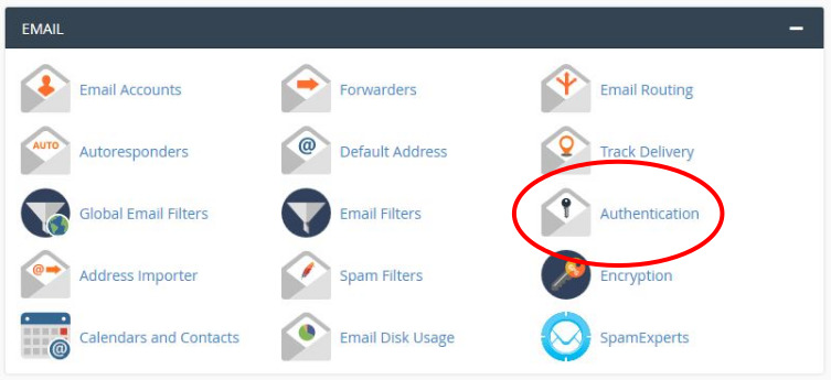 Locate 'Authentication' in your cPanel